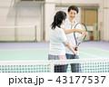 テニス 女性 テニスコートの写真 43177537