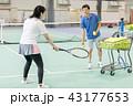 テニス 女性 男性の写真 43177653