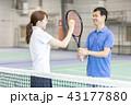 テニス 女性 男性の写真 43177880
