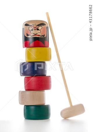 日本の木製玩具(だるま落とし) 43178662