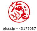 海老 えび 筆文字 43179037