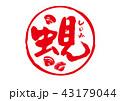 蜆 しじみ 筆文字のイラスト 43179044
