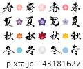 アイコン 季節 筆文字のイラスト 43181627