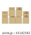 山積みの日本円紙幣の札束 43182382