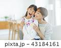 親子 笑顔 抱っこの写真 43184161