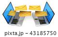 電子メール ノートパソコン メールのイラスト 43185750