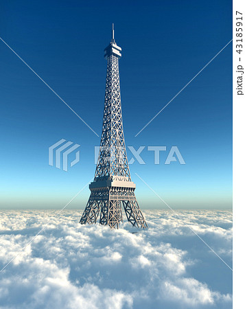 Eiffel Tower above the clouds 43185917