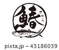 鰆 筆文字 魚のイラスト 43186039