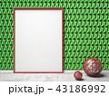フレーム 背景 壁のイラスト 43186992