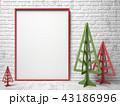 背景 フレーム クリスマスのイラスト 43186996