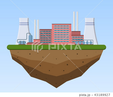 Production industrial factory building. 43189927