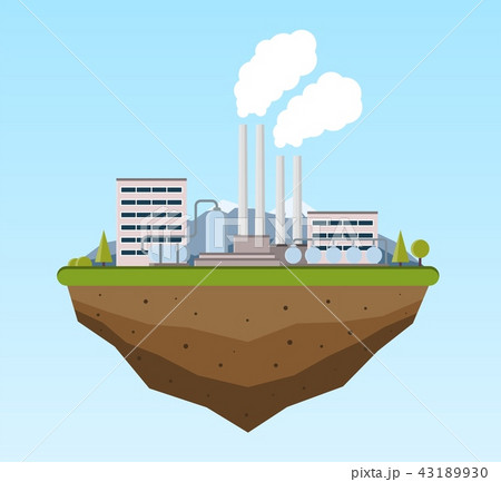 Production industrial factory building. 43189930