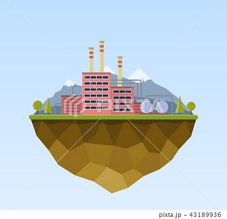 Production industrial factory building. 43189936