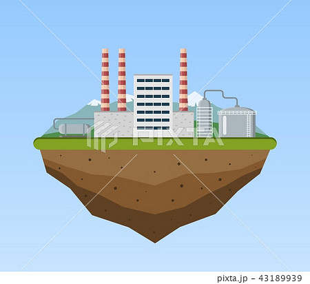 Production industrial factory building. 43189939
