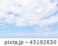 空 快晴 晴天の写真 43192630