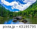 夏の上高地、明神池 43195795