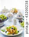 ワッフル デザート ティータイムの写真 43200238