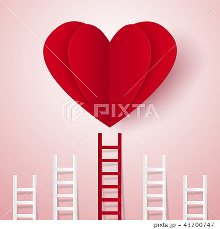 Love concept , ladder leading to a heart 43200747