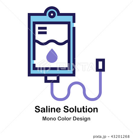 saline solution mono color iconのイラスト素材 43201268 pixta
