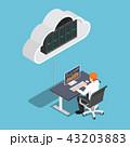クラウド コンピュータ コンピューターのイラスト 43203883