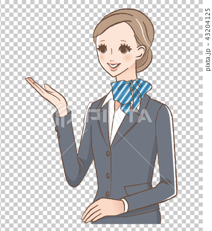 Illustration of a lady to guide 43204125