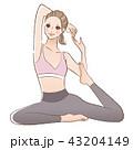 女性 ヨガ フィットネスのイラスト 43204149