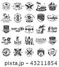 サーフィン 記章 バッジのイラスト 43211854