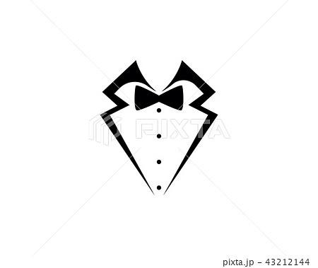 tuxedo man logo and symbols black icons templateのイラスト素材