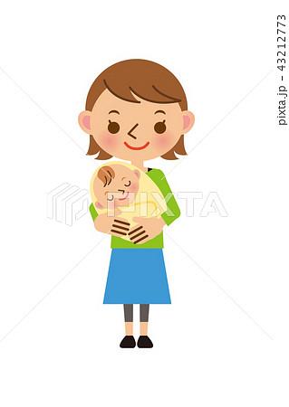お母さん 赤ちゃん おくるみ 43212773