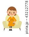 ベクター 笑顔 妊娠のイラスト 43212778
