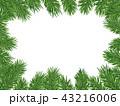 クリスマス フレーム 枠のイラスト 43216006
