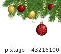 クリスマス クリスマス飾り オーナメントのイラスト 43216100