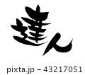 筆文字 書道 毛筆のイラスト 43217051