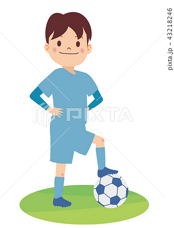 サッカー少年 43218246