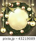 クリスマス リース クリスマスリースのイラスト 43219089