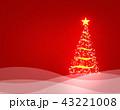 クリスマス クリスマスツリー 背景のイラスト 43221008