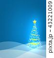 クリスマス クリスマスツリー 背景のイラスト 43221009