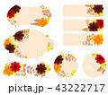 花 コスモス フレームのイラスト 43222717