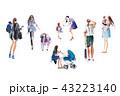 女性 人々 人物のイラスト 43223140