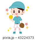 ソフトボール選手 かわいい女の子 43224373