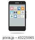 スマホ スマートフォン アイコンのイラスト 43225065