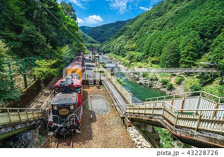 京都 保津峡 トロッコ保津峡駅 43228726