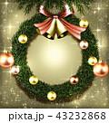 クリスマス リース クリスマスリースのイラスト 43232868