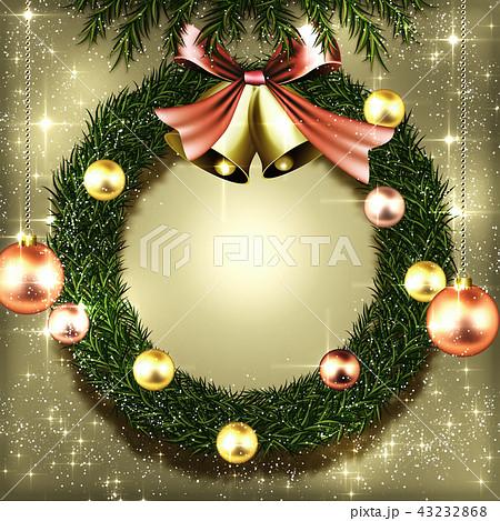 クリスマスリース背景 43232868