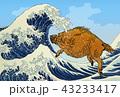 年賀状 猪 亥のイラスト 43233417