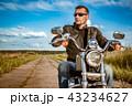 バイカー バイク 人の写真 43234627