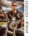 バイカー バイク 人の写真 43234634