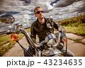 バイカー バイク 人の写真 43234635