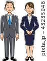 男女 ビジネスマン 会社員のイラスト 43235946