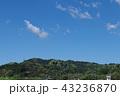 新緑 山並み 晴れの写真 43236870
